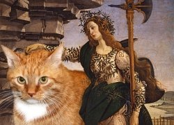 Botticelli, Pallas and the Cat / Боттичелли, Паллада и кот