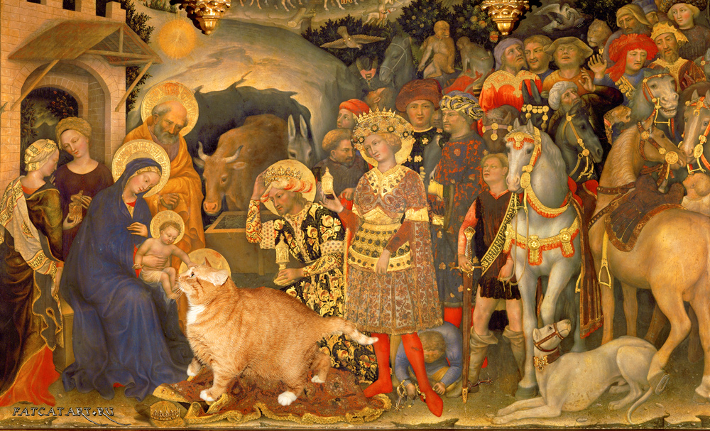 Gentile da Fabriano, The Adoration of the Cat by FatCatArt