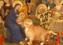 Gentile da Fabriano, The Adoration of the Cat