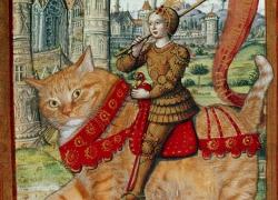 Жанна д'Арк верхом на Коте. Au nom-nom de chat