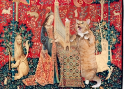 A Lady with the Cat in the Unicorn Hat: Hearing