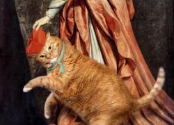 Philippe de Champaigne, Portrait of Cardinal de Richelieu with a Cat/ Филипп де Шампень, Портрет кардинала Ришелье с котом