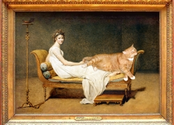 Jacques Louis David, Le Chat avec Madame Recamier/ Жак Луи Давид, Кот с Мадам Рекамье