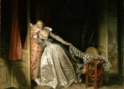 Jean-Honore Fragonard, Stolen Kiss / Жан Оноре Фрагонар, Поцелуй украдкой