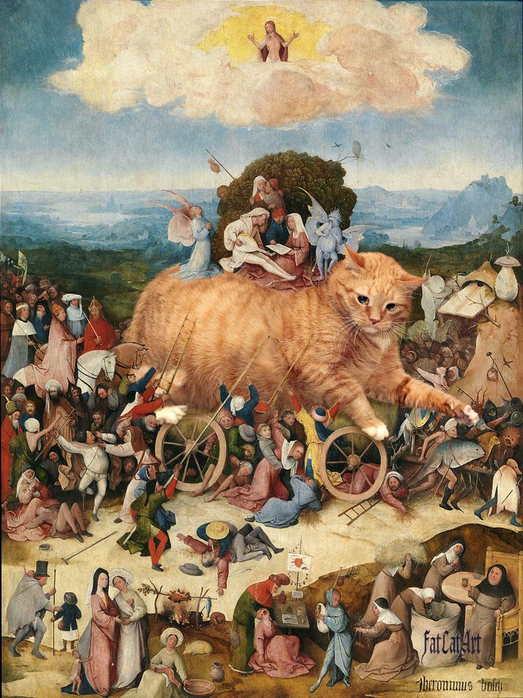 «Бремя кошачьей славы». Подлинная версия шедевра Иеронима Босха — центральная часть триптиха «Воз сена», который оказался… «Возом кота»!