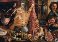 Pieter Aertsen, Fat Cat at Fat Kitchen