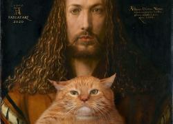 Albrecht Dürer, Self-portrait with the furball