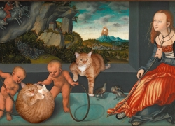Lucas Cranach the Elder, Melancholy of City Cats / Лукас Кранах Старший, Меланхолия городских котов