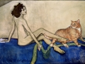 "Valentin Serov ""Ida Rubinstein and The Cat"" / Валентин Серов ""Ида Рубинштейн и Кот"""