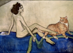 Valentin Serov, Ida Rubinstein and The Cat