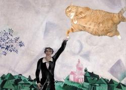 Mark Chagall, Lovers. Walk / Шагал, Влюбленные. Прогулка