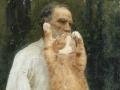 Ilya Repin, Leo Tolstoy with a cat beard, barefoot /Илья Репин. Лев Толстой, с котобородой и босиком