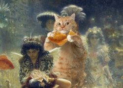 "Ilya Repin ""Sadko and the Underwater Fat Cat"" / Илья Репин ""Садко и подводный Толстый Кот"","