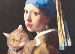 Girl with a Pearl Earring and a Ginger Cat
