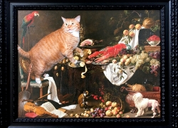 Still Life Improved by the Cat