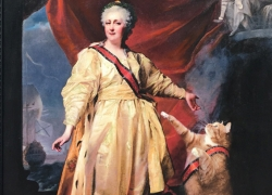 Portrait of Catherine II with the Cat as Symbol of Justice