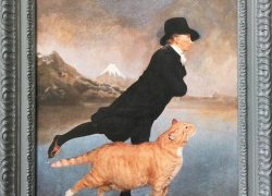 The Reverend Robert Walker Skating with his Cat on Frozen Lake Suwa in the Shinano Province, near Mount Fuji