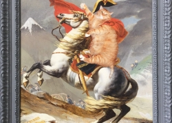 Napoleon Cat Crossing Mount Fuji via Inume Pass, Thirty-ninth view of Mount Fuji,