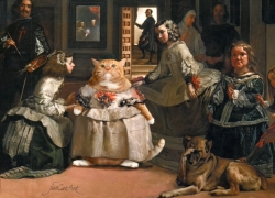 Diego Velazquez, Las Meowninas, or Fashion victim