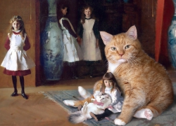 John Singer Sargent, The Daughters and The Cats of Edward Darley Boit