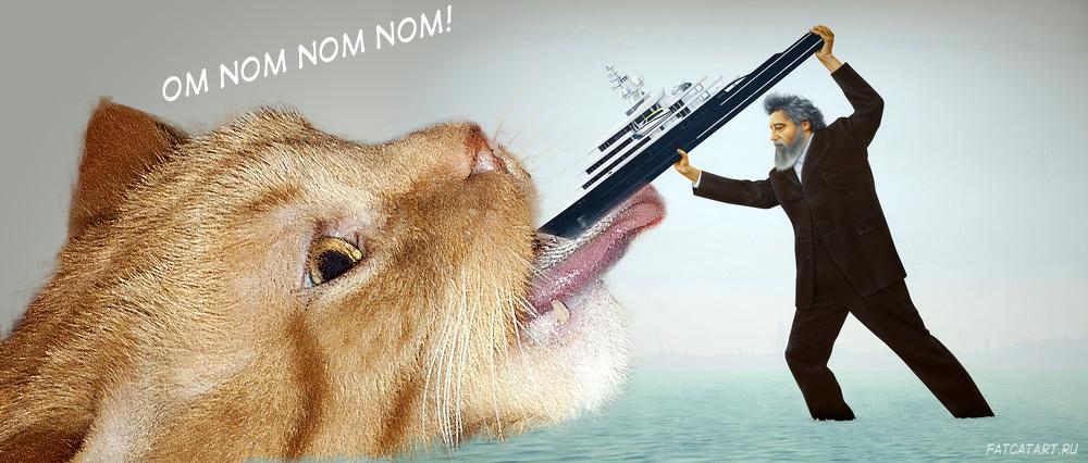 Джереми Деллер, Уильям Моррис кормит голодного кота яхтой Романа АбрамовичаДжереми Деллер, Уильям Моррис кормит голодного кота яхтой Романа Абрамовича