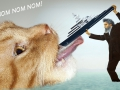 Jeremy Deller, William Morris feeds hungry cat with Roman Abramovich's yacht / Джереми Деллер, Уильям Моррис кормит голодного кота яхтой Романа Абрамовича