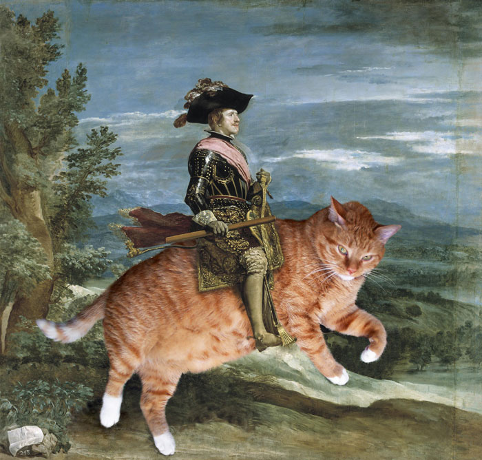 Velazquez, Philip IV on Catback