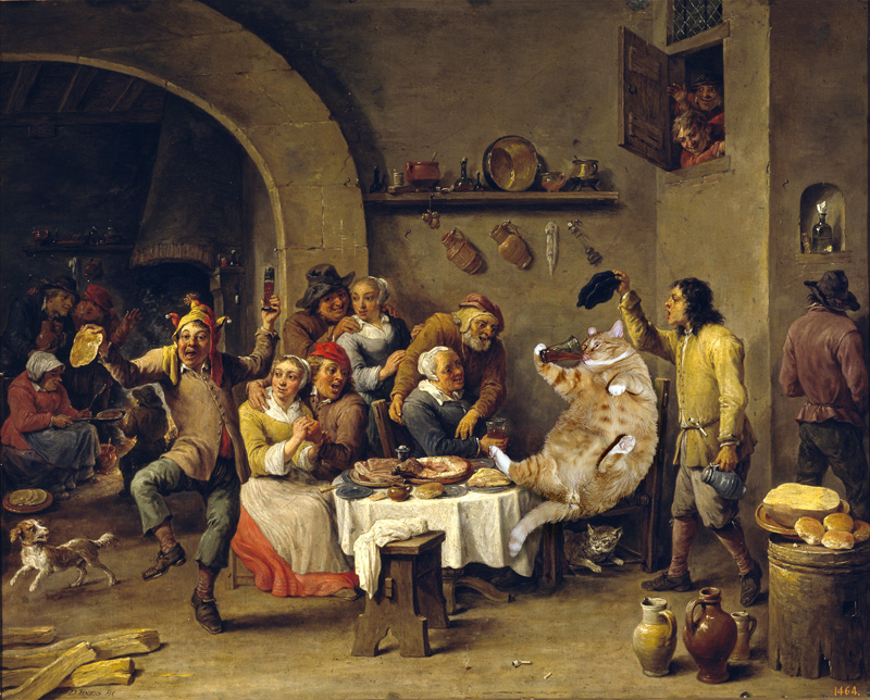 David Teniers the Yonger. Twelfth Night. The King drinks