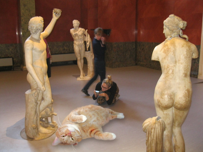 Antique sculpture without a pedestal