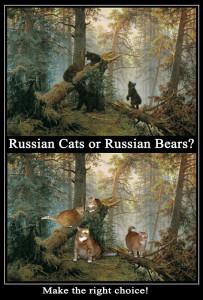 Russian Cats or Russian Bears? Make a right choice! by Ivan Shishkin