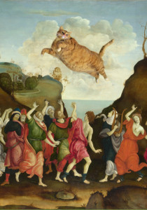 Filippino Lippi. The Worship of the Golden Cat