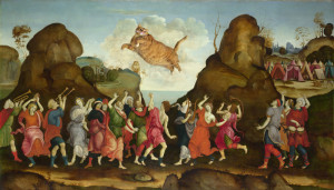 Filippino Lippi. The All National Worship of the Golden Cat