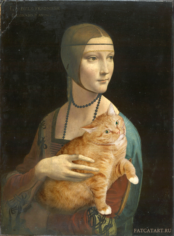 Leonardo da Vinci. Lady with a Cat pretending to be an Ermine (Portrait of Cecilia Gallerani)