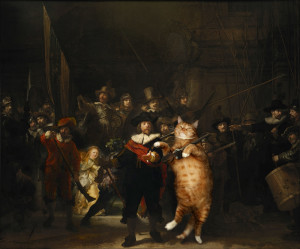Rembrandt Harmenszoon van Rijn, The Night Watch (Company of Frans Banning Cocq and the Cat)
