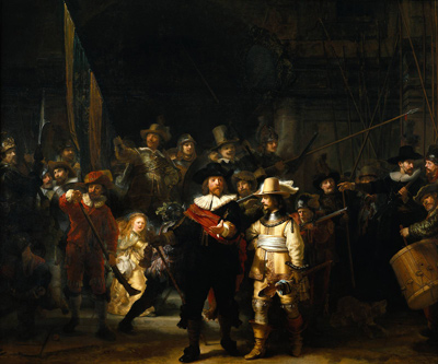 Rembrandt, The Night Watch, commonly known version