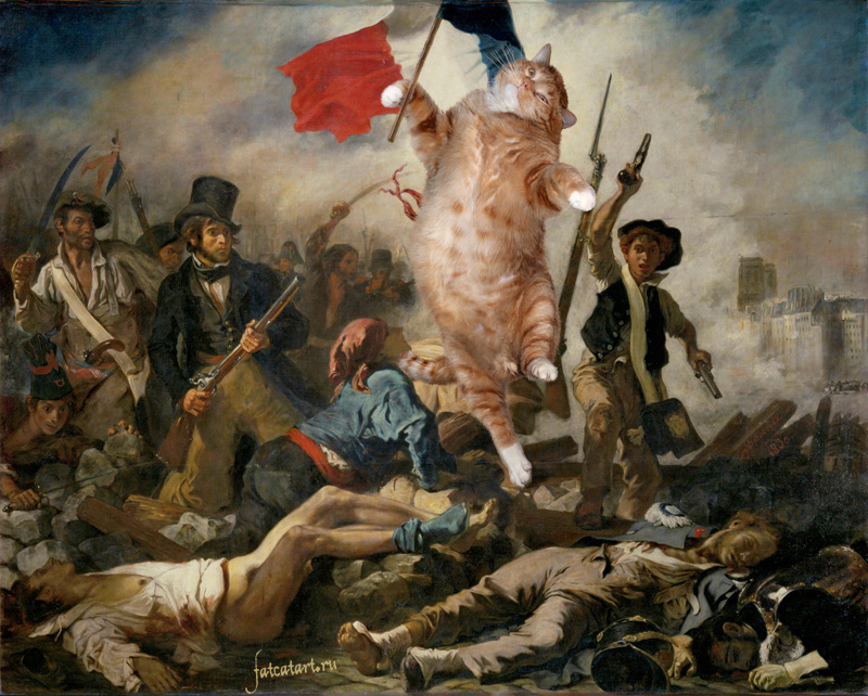 Eugene Delacroix, Liberty Leading the People aka Pussy Riot
