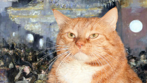 Edouard Manet, A Bar at the Folies-Berg?re, the honest and sincere Cat eyes