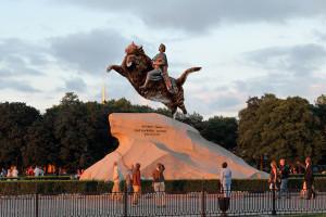 The Bronze Catman, Peter the Great statue in Saint Petersburg
