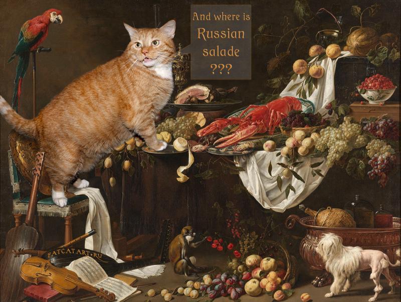 Adriaen van Utrecht, Still Life, Where is Russian salad? 1644