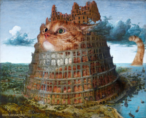 Питер Брейгель Старший, Вавилонская башня, 1565, диптих, часть 2