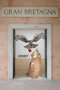 Пищевая цепочка: Джереми Деллер атакует богатство, толстый кот атакует атаку на богатство Джереми Деллера