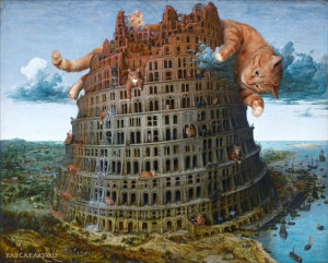 Bruegel-Tour-of-Babel-cat-w1