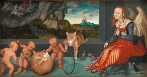 Cranach-melacholia-cat-w3