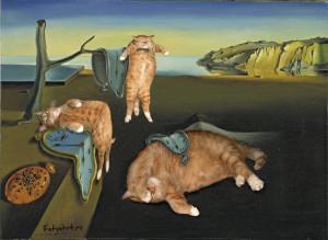Dali-The-Persistence-of-Memory-cat1