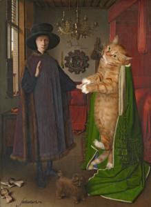 Eyck-The-Arnolfini-Portrait-cat-w1