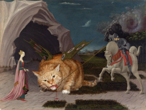 Uccello__Saint_George_and_the_Cat_w1