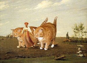 Venetsianov_Aleksey-In-the-ploughed-field-cat_w1