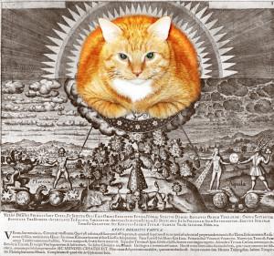 Маттеус Мериан Старший, Рыжая скрижаль. Макрокот и Микрокосм. гравюра из книги «Basilica Philosophica» (1618)