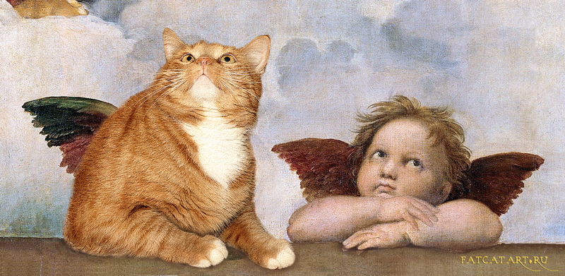 Рафаэль, Сикстинская мадонна, ангелочки