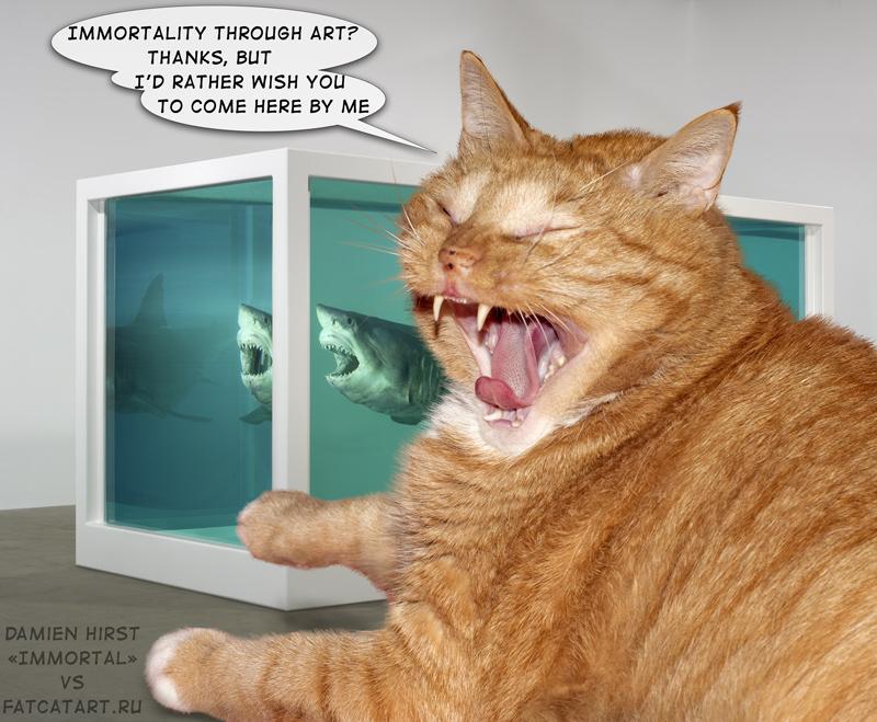 Zarathustra the Cat as art critics of